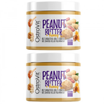 OSTROVIT Peanut Butter + Honey 1000g KREM ORZECHOWY Z MIODEM
