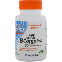 DOCTOR'S BEST Fully Active B Complex 30vegcaps