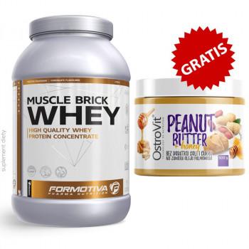 FORMOTIVA Muscle Brick Whey 2100g + OSTROVIT Peanut Butter + Honey 500g KREM ORZECHOWY Z MIODEM GRATIS!!!