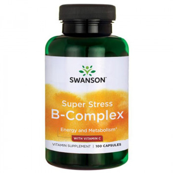 SWANSON Super Stress B-Complex With Vitamin C 100caps