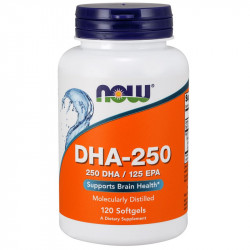 NOW DHA-250 250 DHA/100 EPA 120caps