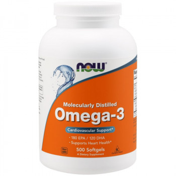 NOW Molecularly Distilled Omega-3 500caps