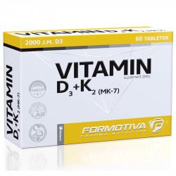 FORMOTIVA Vitamin D3+K2 (MK-7) 60tabs