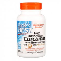 DOCTOR'S BEST High Absorption Curcumin From Turmeric Root 120caps