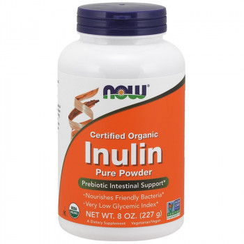 NOW Certified Organic Inulin Pure Powder 227g