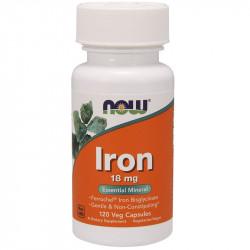 NOW Iron 18mg 120vegcaps