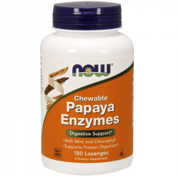 NOW Chewable Papaya Enzymes 180tabs