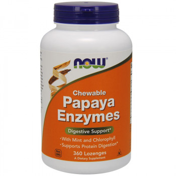 NOW Chewable Papaya Enzymes 360tabs