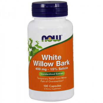 NOW Willow Bark Extract 400mg-15% Salicin 100caps