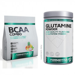 FORMOTIVA BCAA Combo ZIP 500g + FORMOTIVA Glutamine Powder 510g